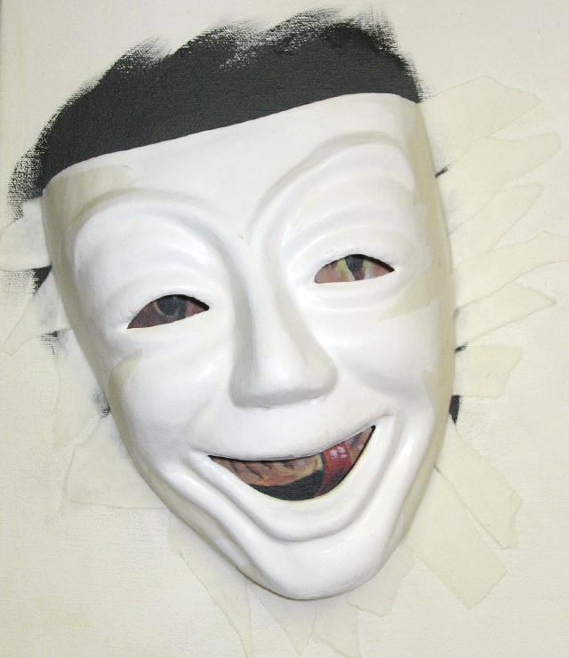 маска смайлик:
