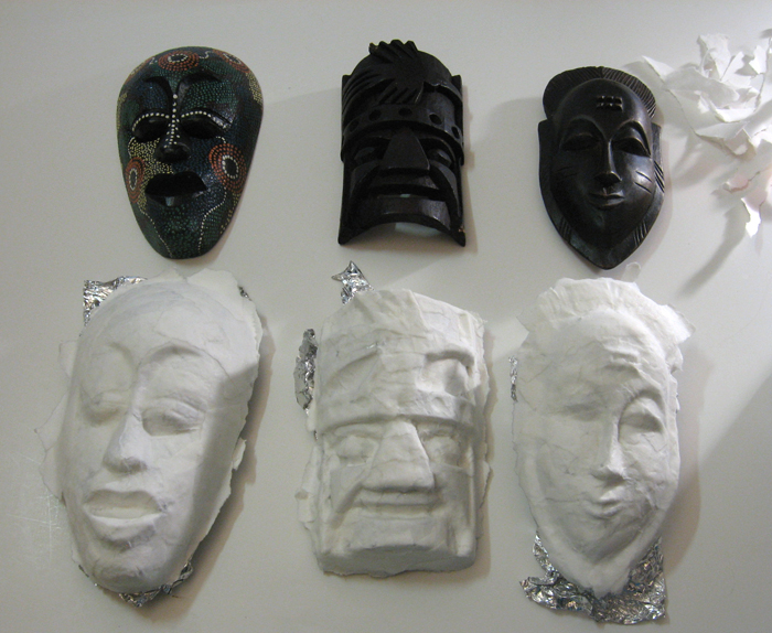 Hidden - papered masks