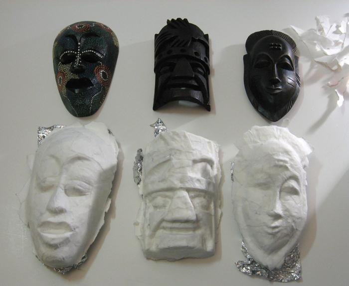 Hidden - papered masks