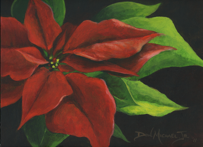 Images Of Poinsettias Paintings